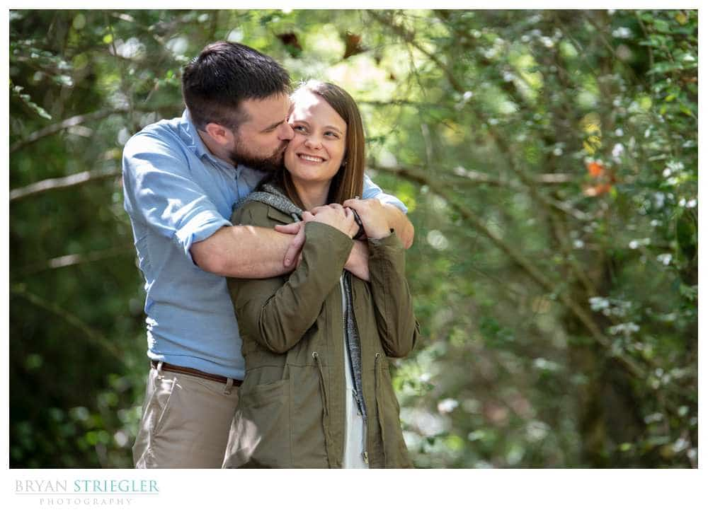 engagement photo at Compton Gardens
