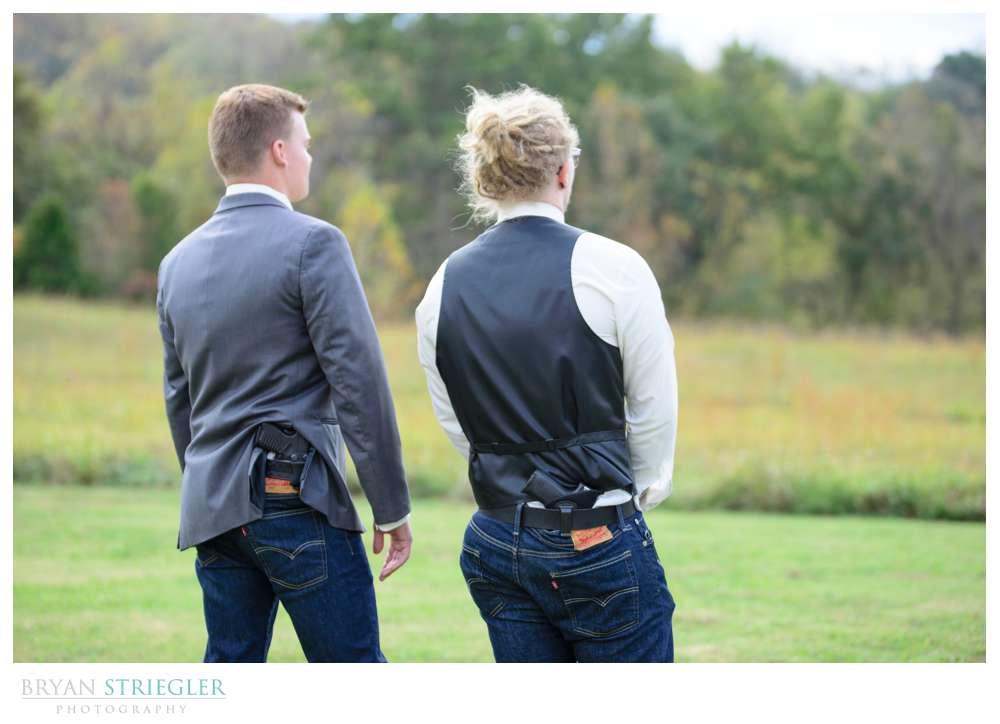 groomsmen with guns