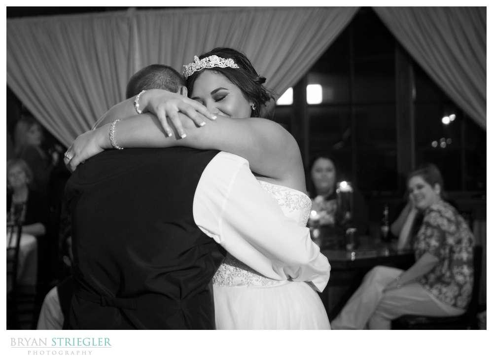 Northwest Arkansas Wedding Photographer black and white dancing
