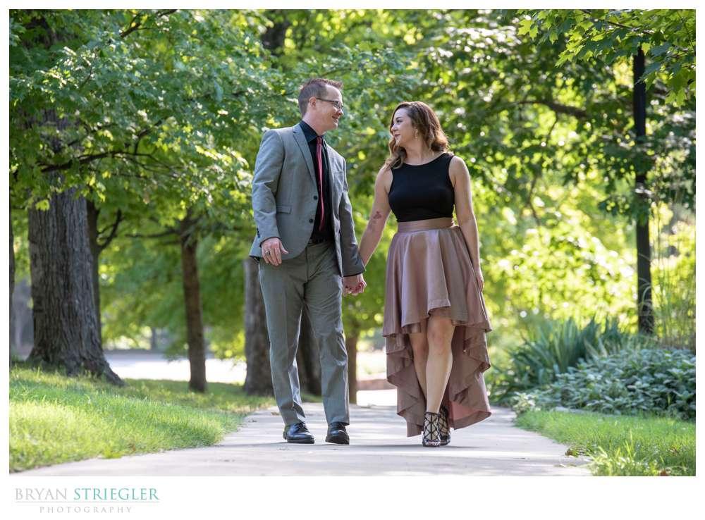walking in Wilson Park