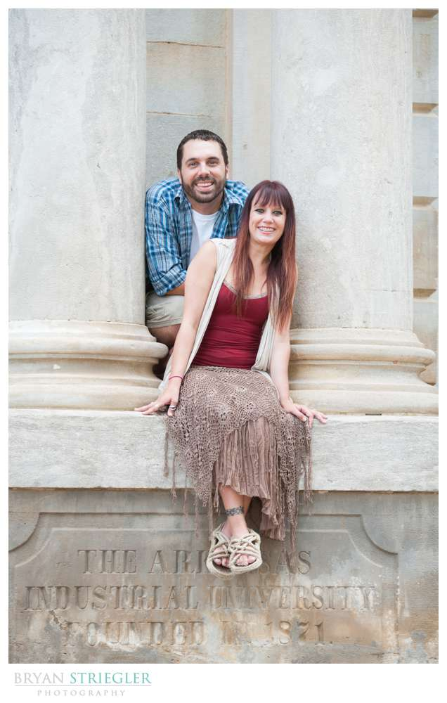 Matt and Ashley's Fayetteville Engagement Photos by columns