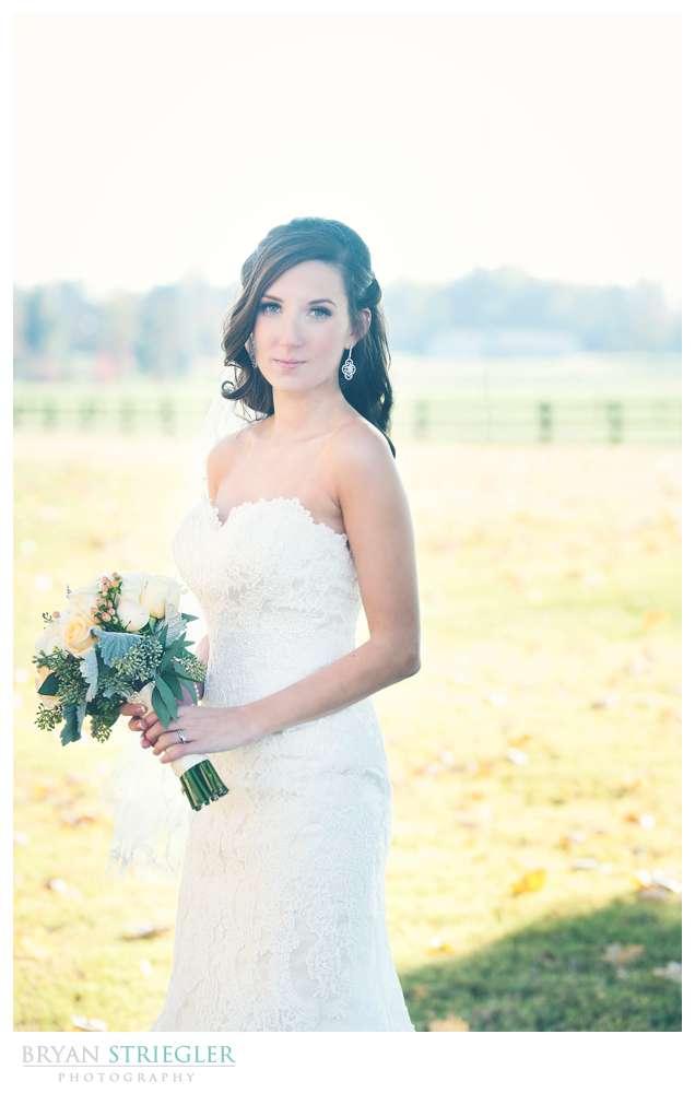 Springdale Arkansas Wedding bride portrait