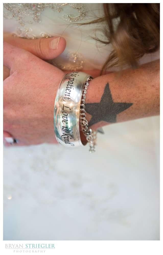Creative wedding bracelet