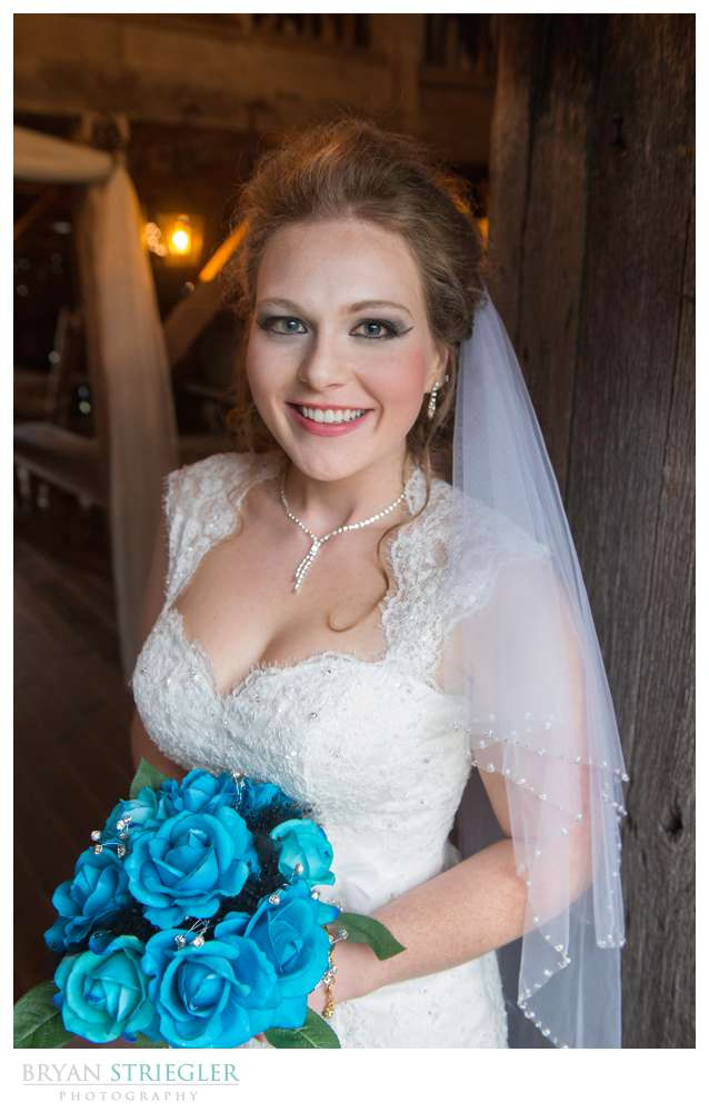 Fayetteville Wedding Photographer bride in doorway St. Catherine's at Belle Gable