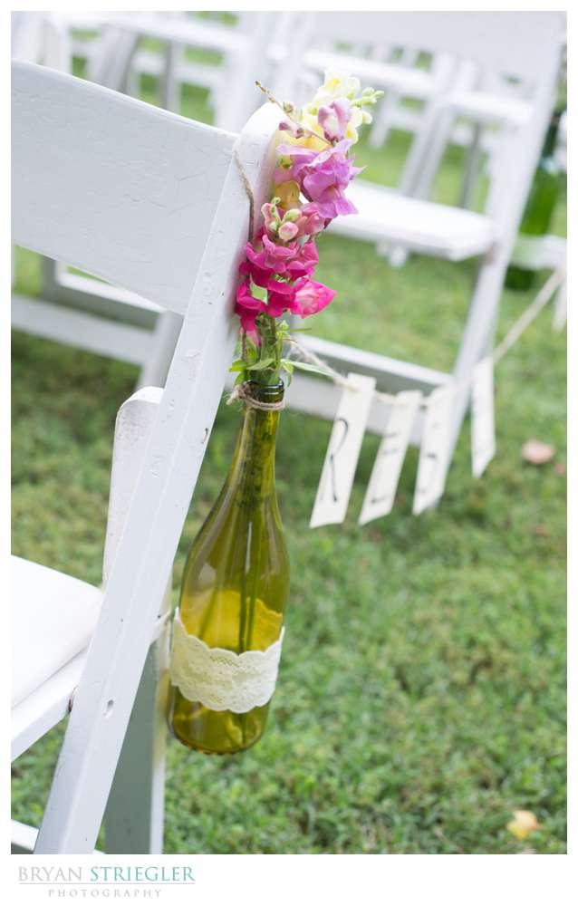 Rogers Wedding Arkansas wine bottle