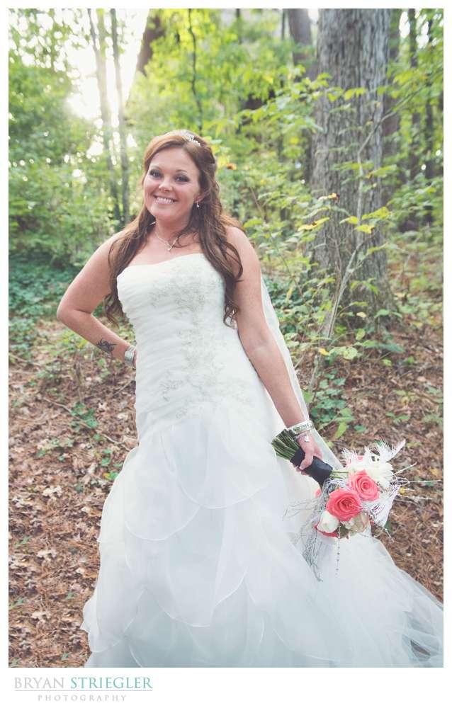 Creative wedding bride portrait