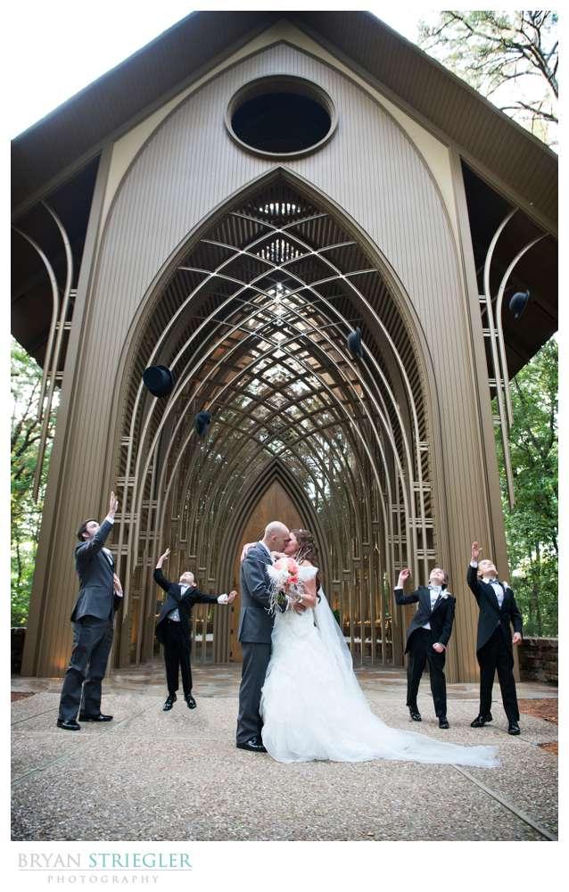 Creative wedding tossing hats