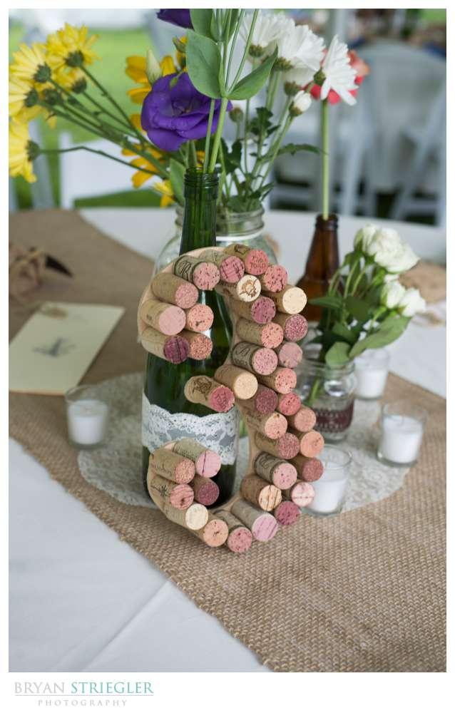 Rogers Wedding Arkansas cork table number
