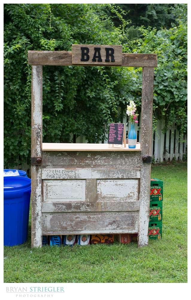 Rogers Wedding Arkansas wooden bar