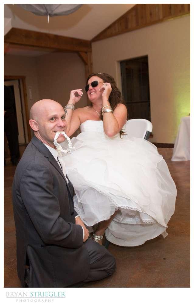 Creative wedding garter