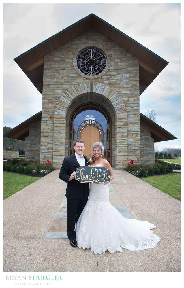 Arkansas Winter Wedding custom sign