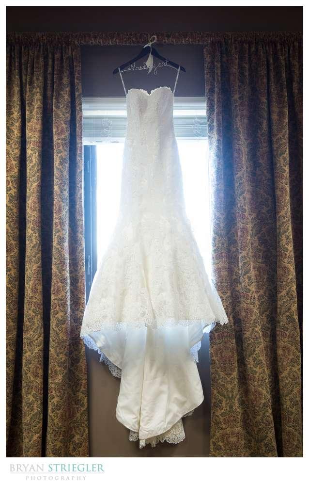 Springdale Arkansas Wedding  dress hanging