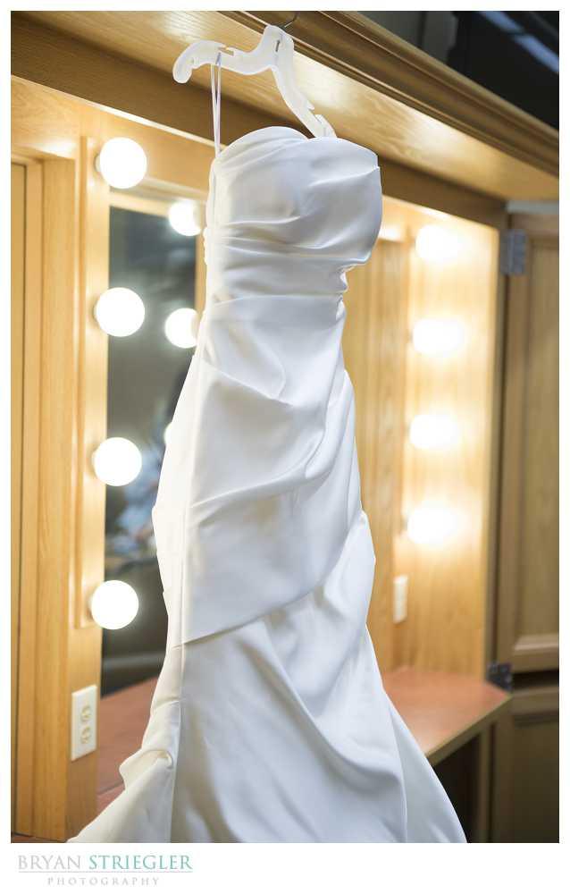 wedding details wedding dress hanging