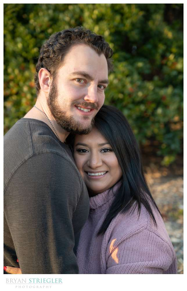 December engagement photos