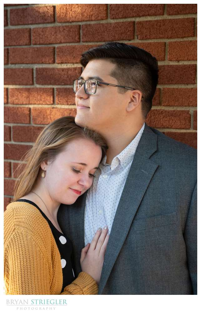 calm engaged couple
