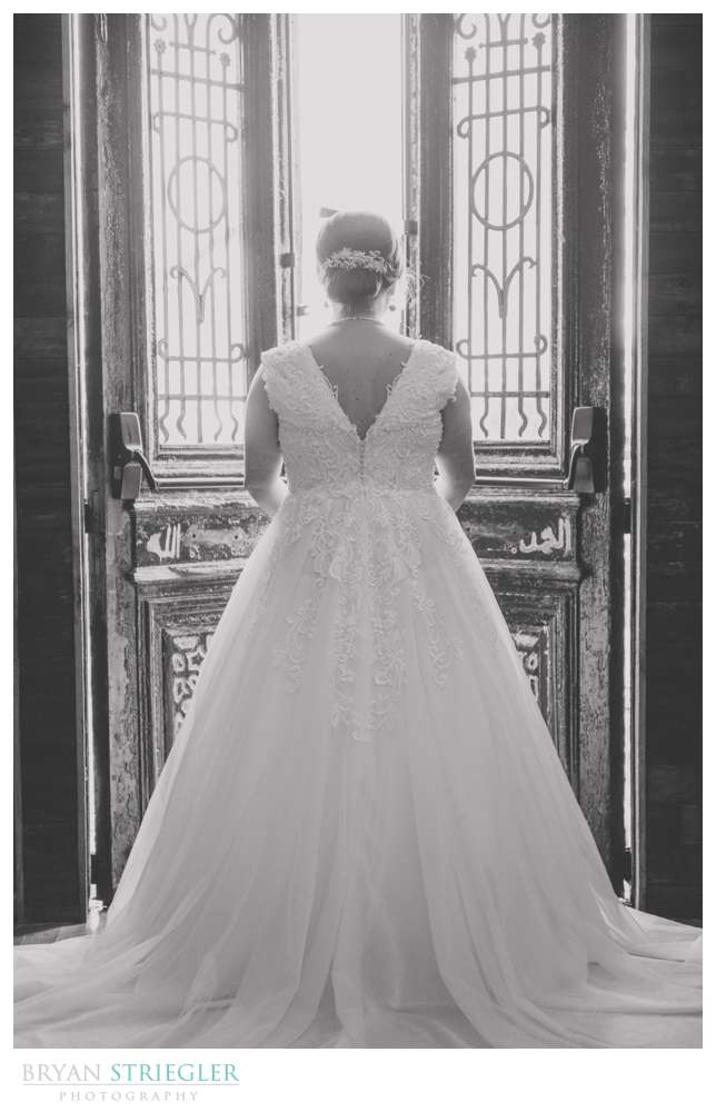 back of bride at The Ravington