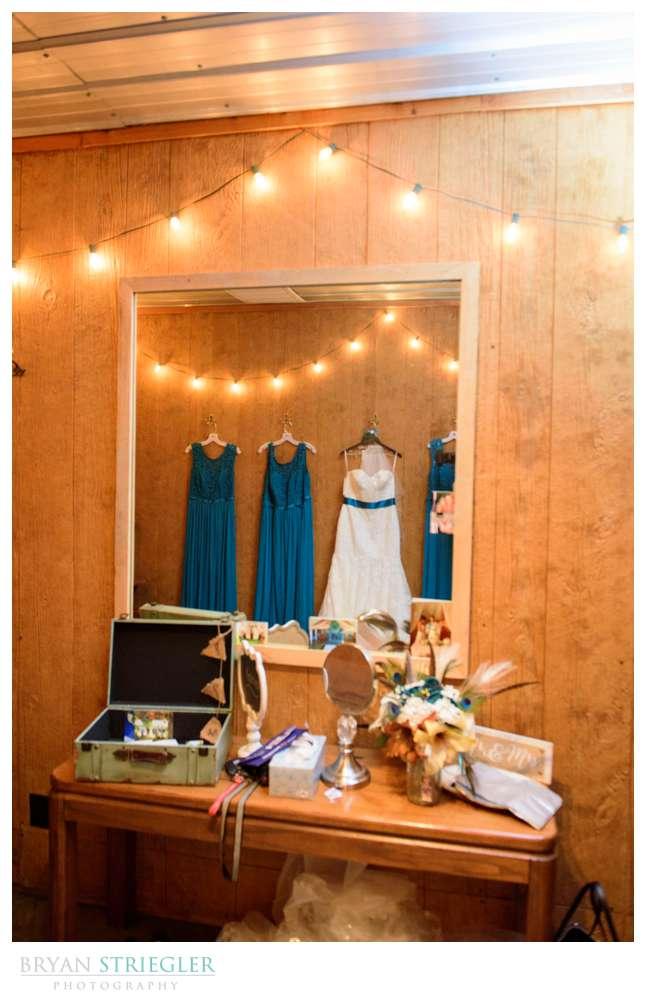Dress hanging at Cypress Barn