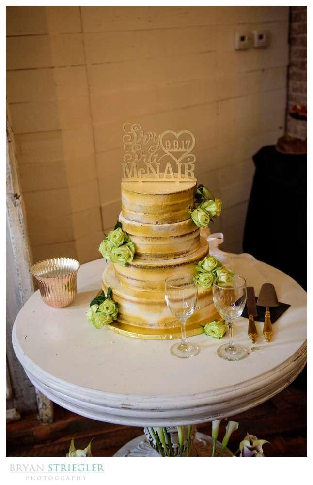 wedding cake at the Ravington