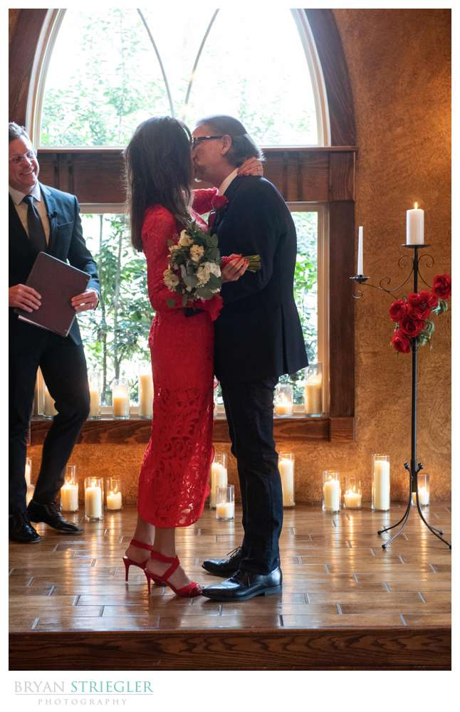 intimate wedding on Valentine's Day