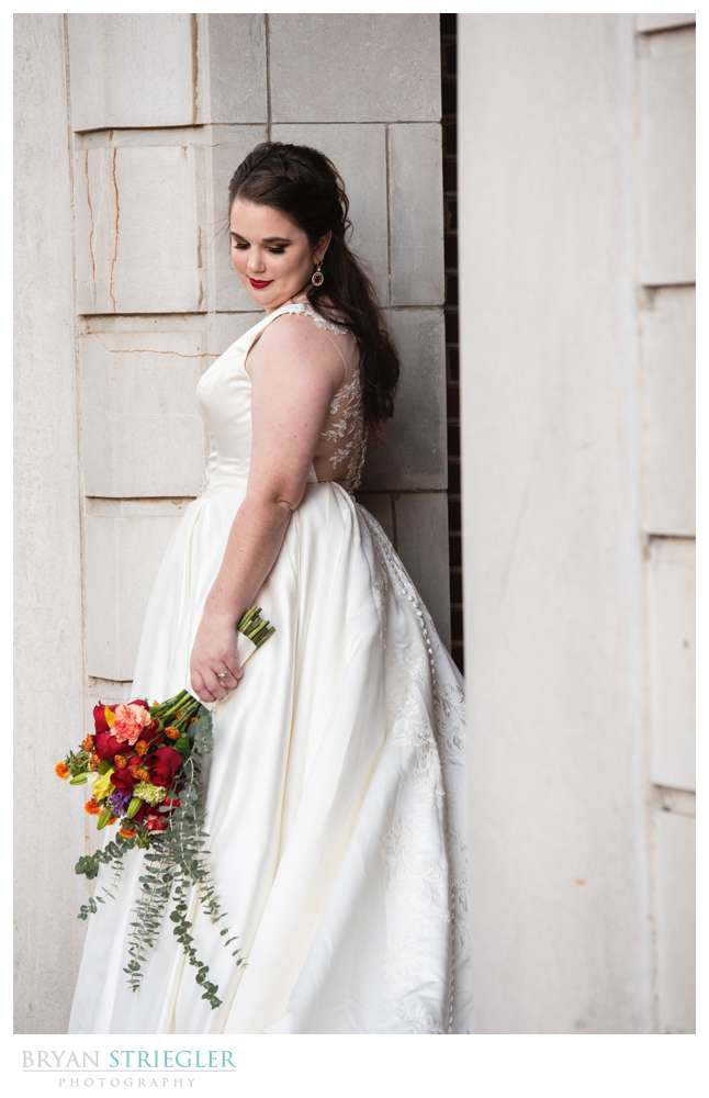 bridal portraits in the city