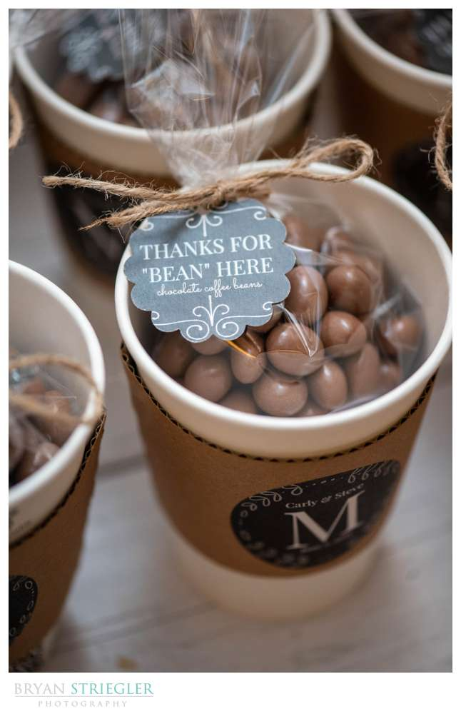 wedding guest favor chocolate covered coffee