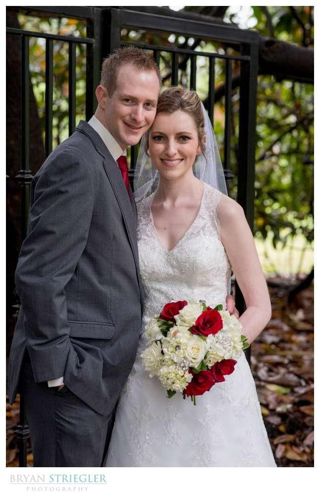 couple near Magnolia trees