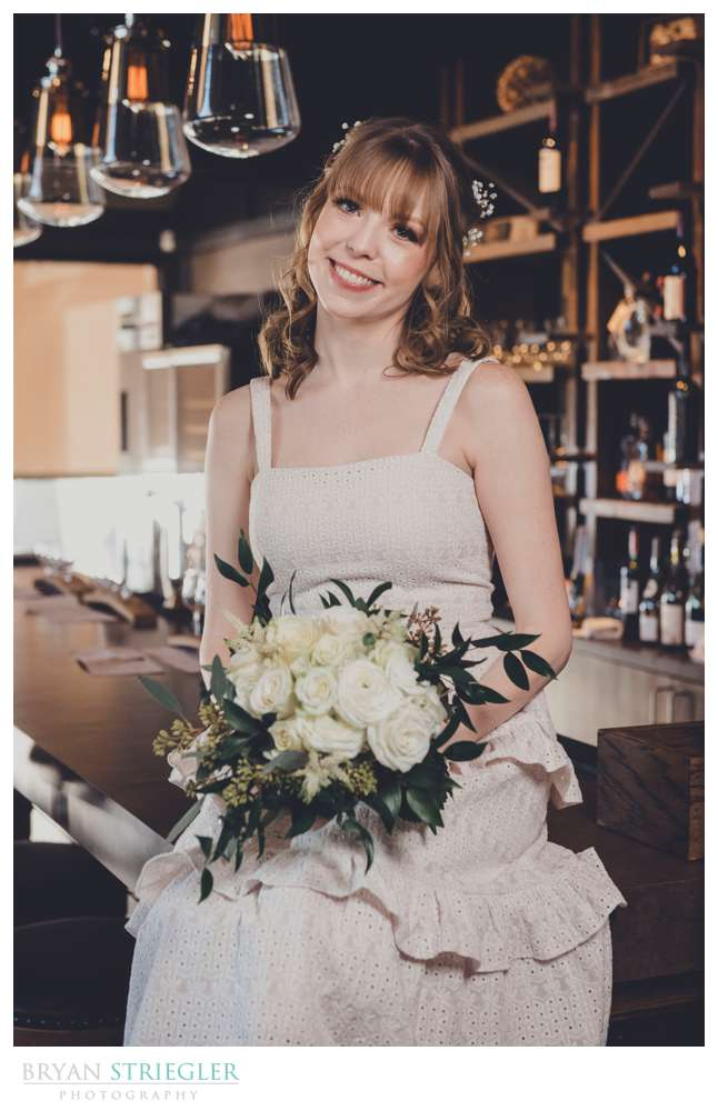 bridal portrait on a bar