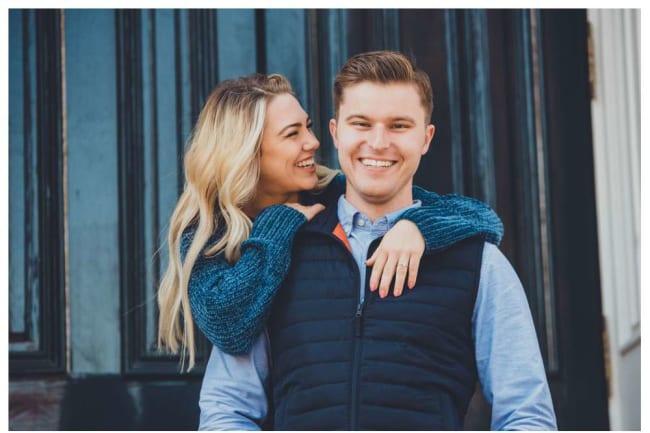 happy engagement photos