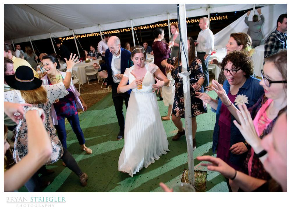 bride dancing with all the guests