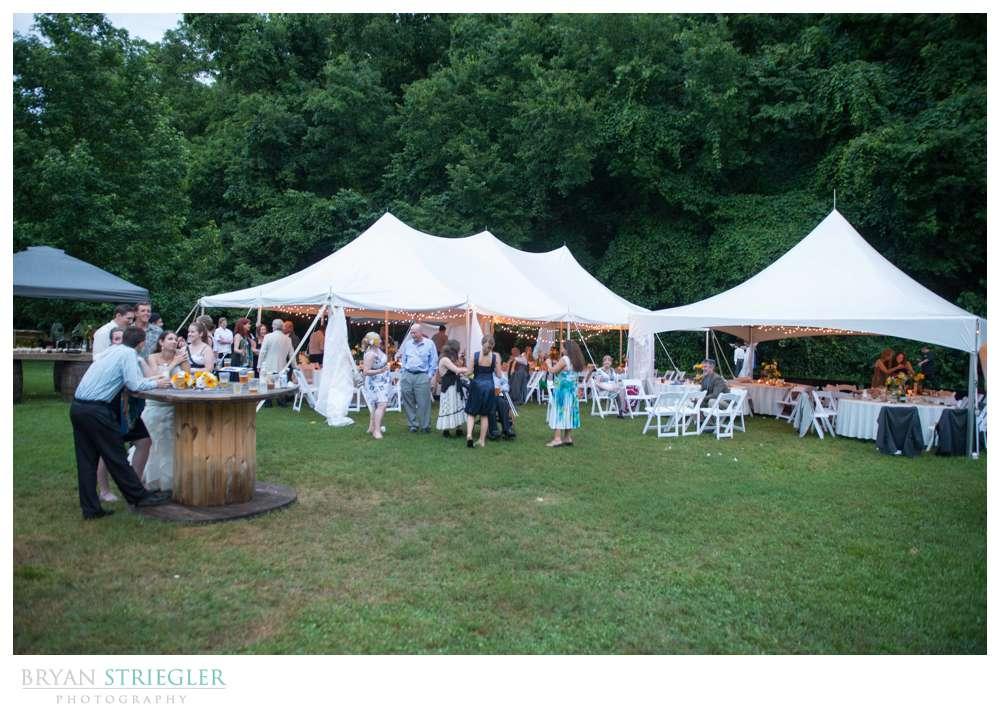 Creekwood Gardens Review tents in field