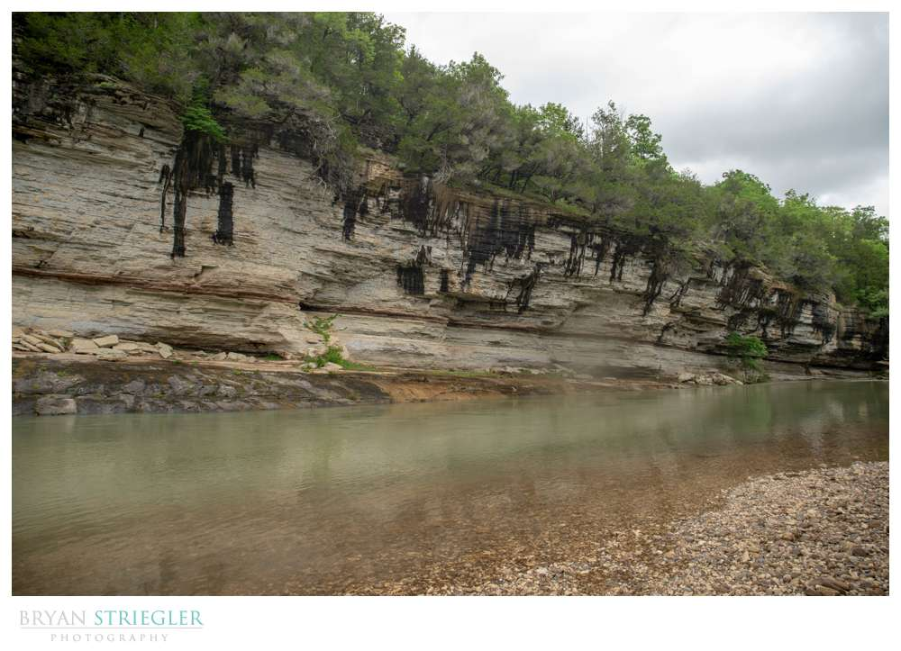 wide view of Buffalo River and bluffs