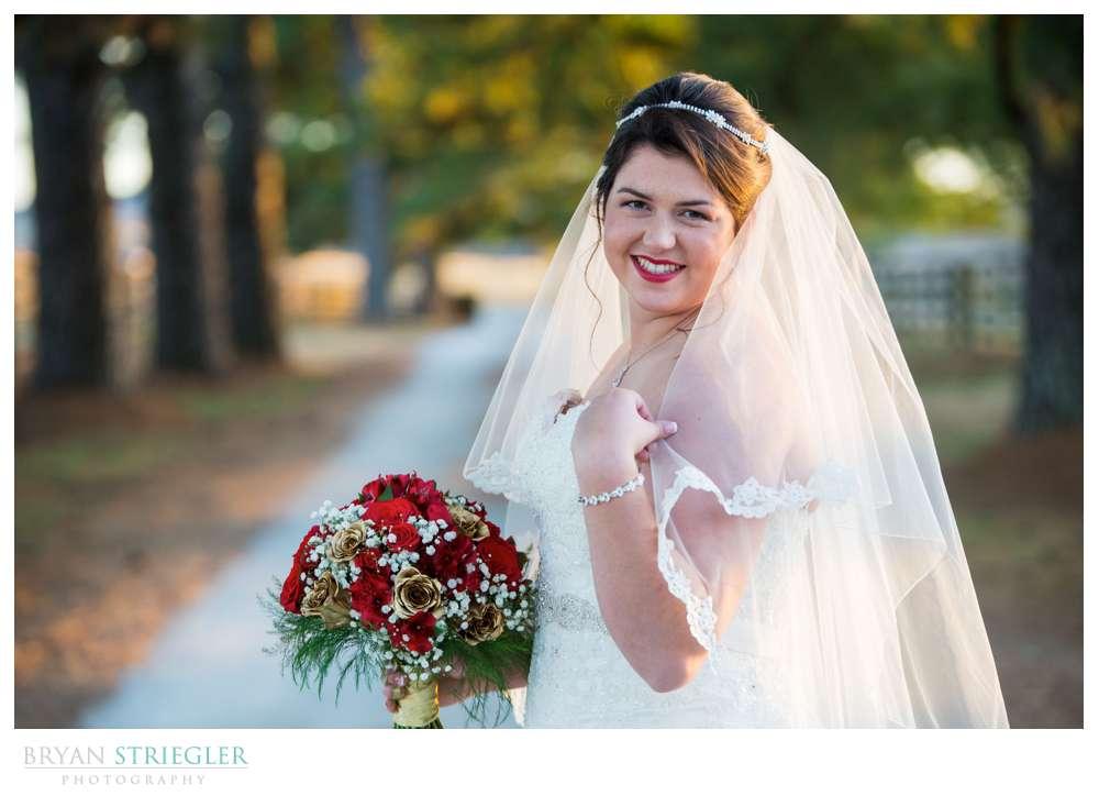 bridal portrait at Matt Lane Farm