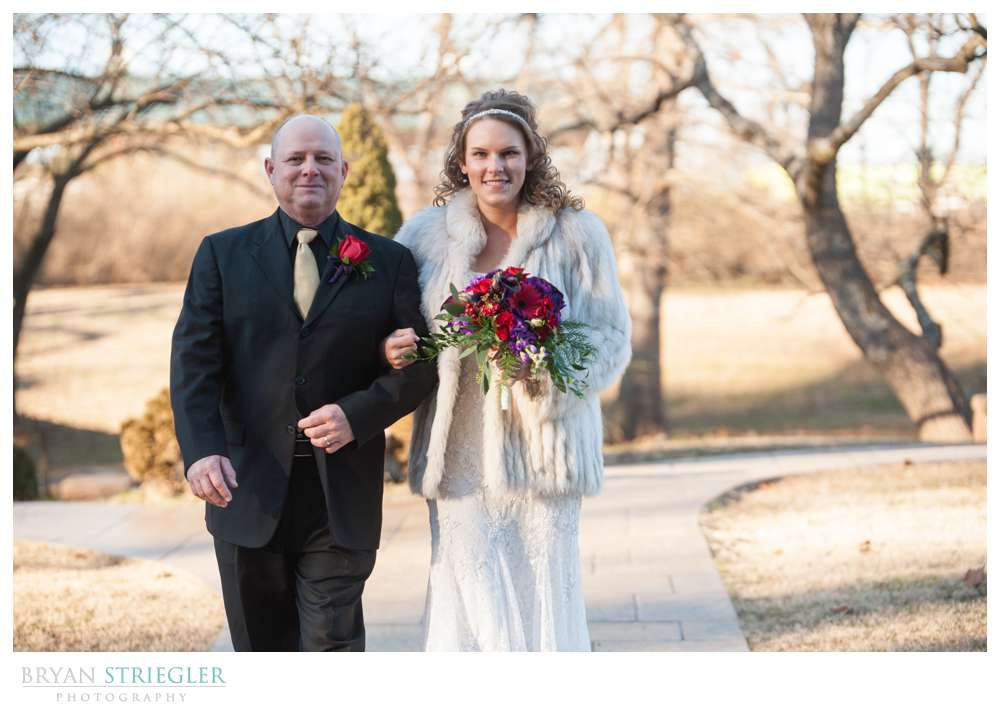 Fayetteville Wedding Photographer bride and father