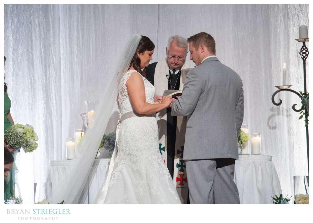 Fayetteville, Arkansas wedding ring exchange