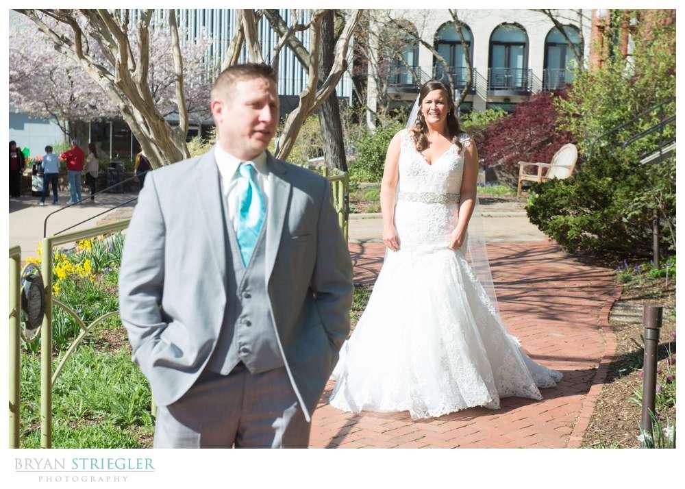 Fayetteville, Arkansas wedding first look