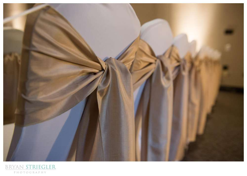 Fayetteville, Arkansas wedding chair decorations