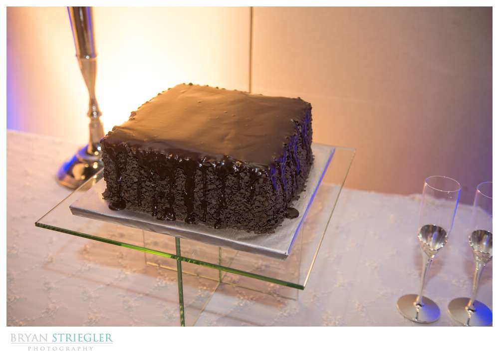 Fayetteville, Arkansas wedding chocolate groom cake