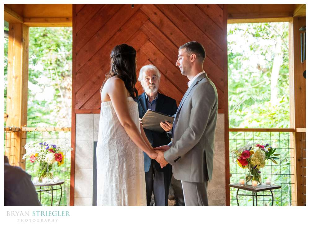 small intimate wedding
