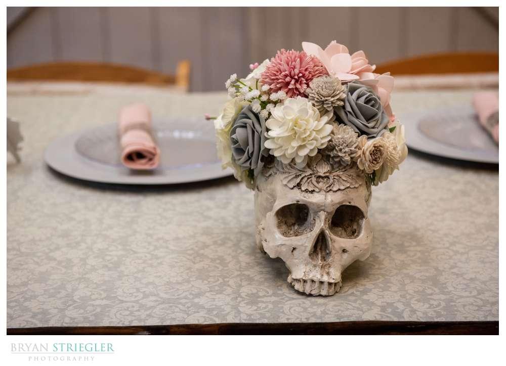 skull wedding decoration
