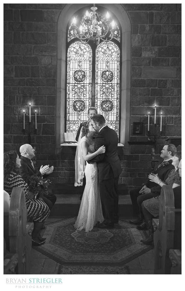 Fayetteville Wedding Photographer the kiss