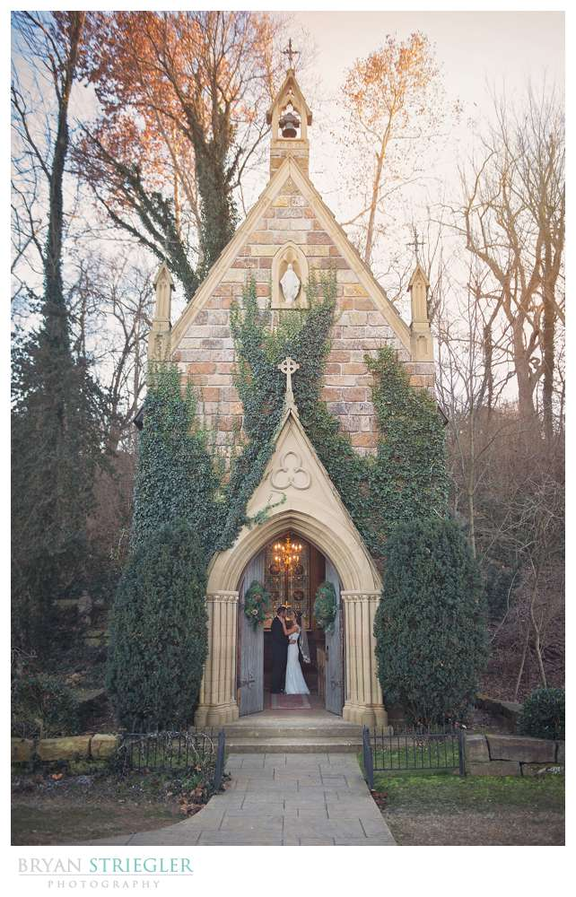 Fayetteville Wedding Photographer doorway of St. Catherine's at Bell Gable