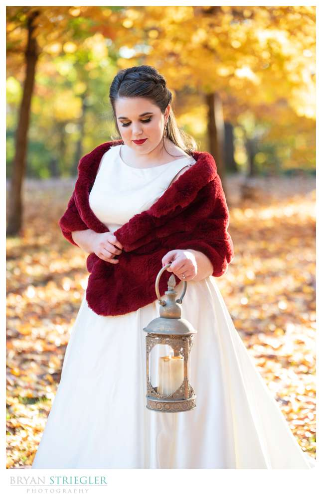 bridal portrait with lantern