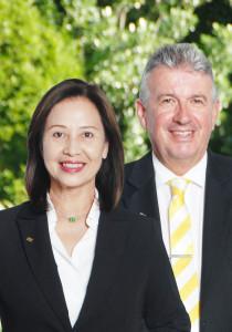 Winnie Leung and Steve Brennan