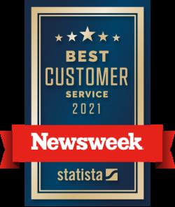 Newsweek best customer service award