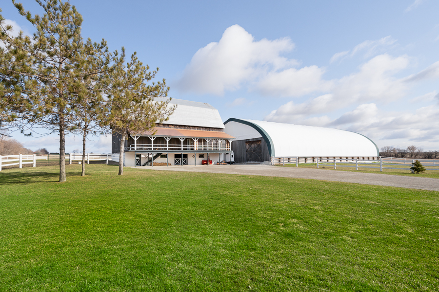Barn and Equestrian Riding Arena