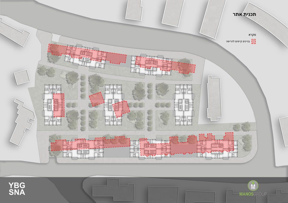 Pinui Binui à Jérusalem – Uruguay, Kiryat Ha'Yovel – Plan du site