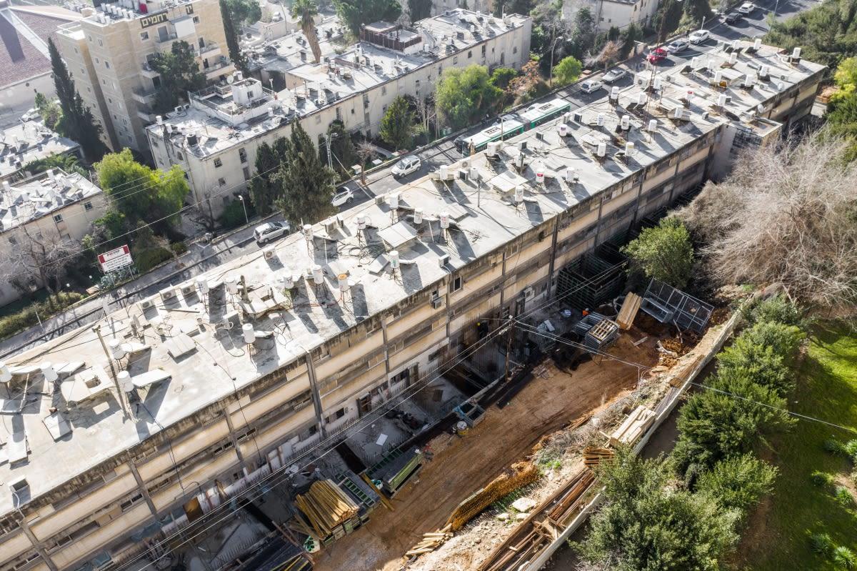בוליביה 4 - פרויקט תמ״א 38 בירושלים - שלבי בנייה