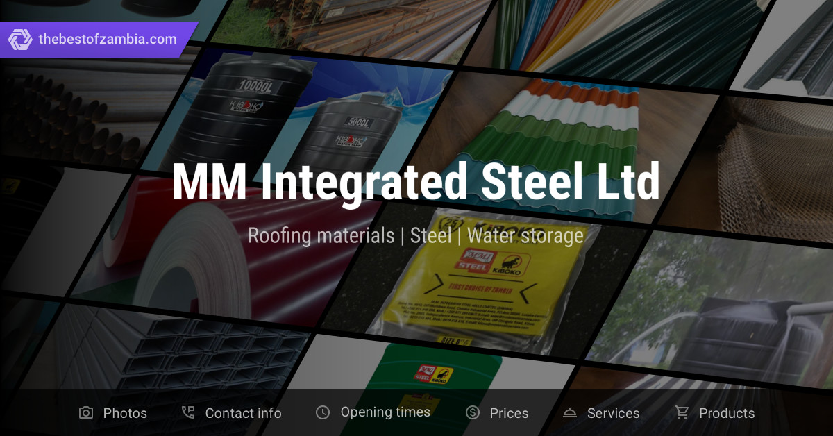 MM Integrated Steel Ltd | Roofing materials, Steel in Lusaka, Zambia