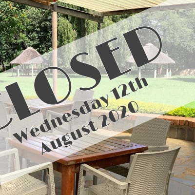 Notice: closed 12th August 2020 image