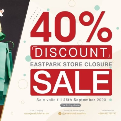 40% off jewellery - EastPark store closure sale image
